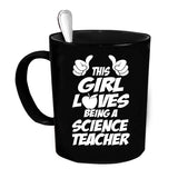 Custom Personalized This Girl Science Teacher Black 15 oz Coffee Mug
