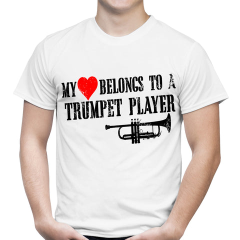 Trumpet Player White T-Shirt