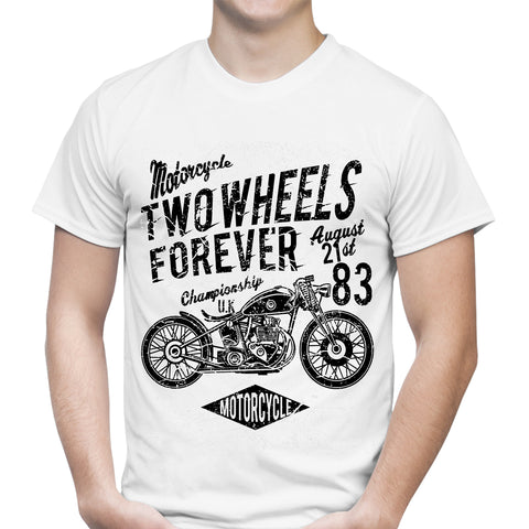 Two Wheels Forever 1 White T-Shirt