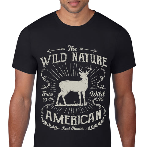 Wild Nature Black T-Shirt