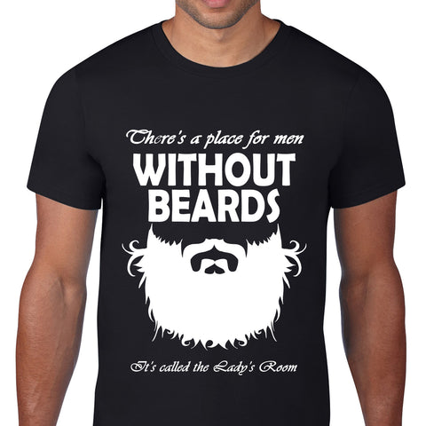 Without Beards Black T-Shirt