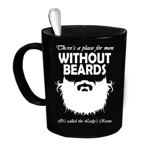 Custom Personalized Without Beards Black 15 oz Coffee Mug