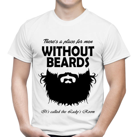 Without Beards White T-Shirt