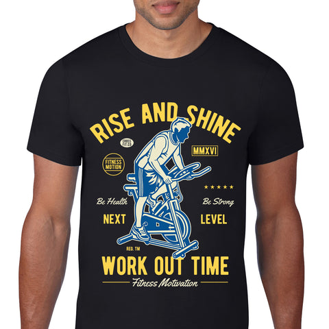 Work Out Time Black T-Shirt