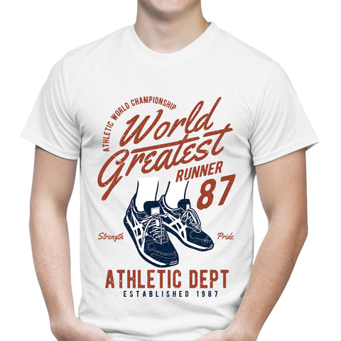 World Greatest Runner White T-Shirt