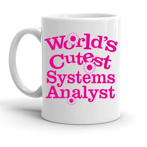 Custom Personalized World's Cutest Systems Analyst White 15 oz Coffee Mug