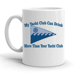 Custom Personalized Yacht Club White 15 oz Coffee Mug