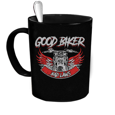 American Good Biker Custom Personalized Coffee Mug
