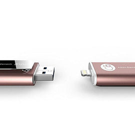 Adam Elements 64GB iKlips Lightning / USB 3.0 Dual-Interface Flash Drive - Rosegold