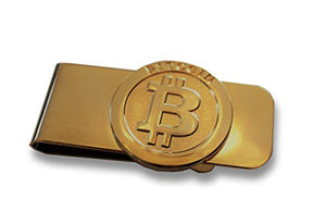 Bitcoin Money Clip Gold Plated Cryptocurrency Gift by BitcoinBling