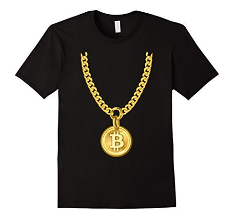 Bitcoin Cryptocurrency Funny Necklace T-Shirt