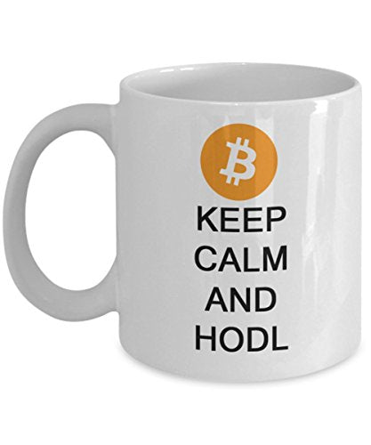 BITCOIN MyFaveGift Keep Calm And HODL Bitcoin 11oz Mug Cryptocurrency Mug Crypto BTC