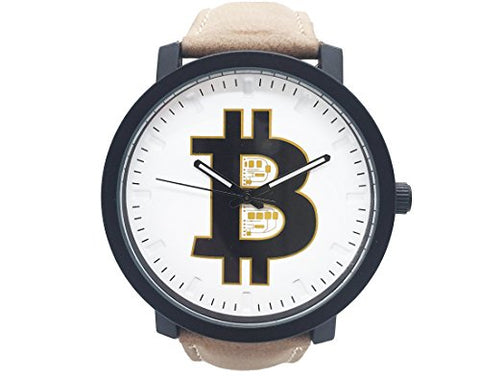 Bitcoin Watch - Mens Wrist Watch - Classic Leather