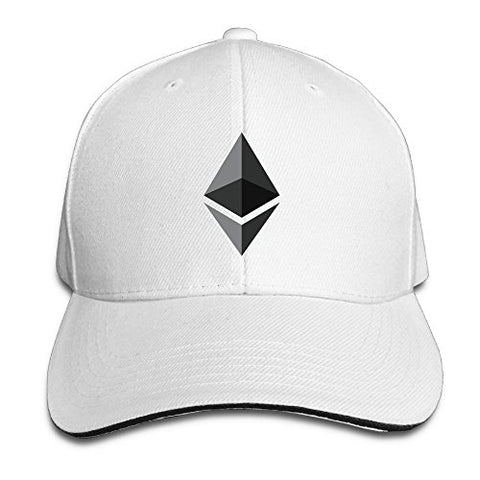 Fashion Unisex Ethereum Icon Black Baseball Hats 100% Cotton Adjustable Snapback Curved Hip Hop Caps 7 Colors