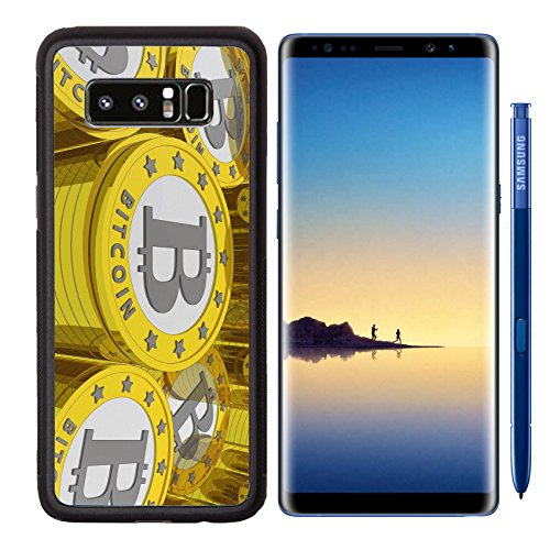 Liili Premium Samsung Galaxy Note8 Aluminum Backplate Bumper Snap Case bitcoins background Bitcoin is a new virtual money for internet trading and business IMAGE ID 19084175
