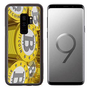 Liili Premium Samsung Galaxy S9 plus Aluminum Backplate Bumper Snap Case bitcoins background Bitcoin is a new virtual money for internet trading and business IMAGE ID 19084175