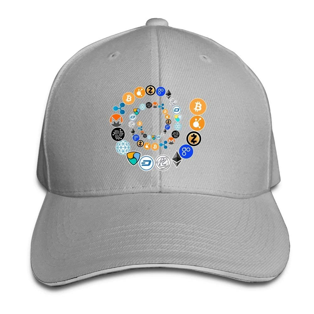 Fashion Unisex Cryptocurrency Bitcoin Ethereum Litecoin Baseball Hats 100% Cotton Adjustable Snapback Curved Hip Hop Caps 7 Colors