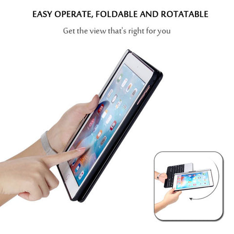 2017 New iPad 9.7 / iPad Pro 9.7 Keyboard Case, Earto 7 Color Backlit Keyboard Case Folio Smart 360 Rotate Stand Keyboard Cover for iPad Air, iPad Air 2, iPad Pro 9.7 and 2017 New iPad 9.7