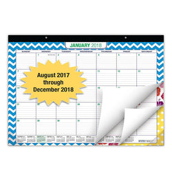 "Desk Calendar 2018 - 22""x17"" - (17 MONTHS, Runs from August 2017 through December 2018) (1 Pack)"