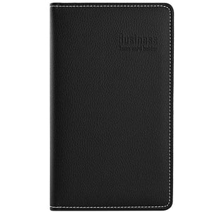 Maxgear Professional PU Leather Business Card book Holder, Journal Business Card organizer, Name Card Book Holder, Office Business card holder -Holds 180 Cards Black