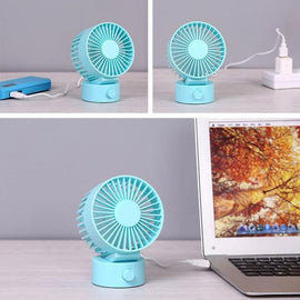 Electric Double-vane Mini USB Fan Flexible