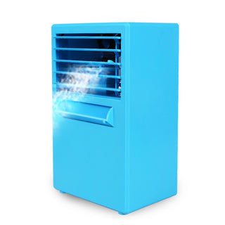 EU US Plug Mini Air Cooler Conditioner Fan Humidifier Moisturizing Tool Device Desktop Fan Drop Shipping White Blue