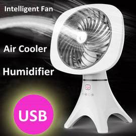 USB Portable Air Cooler Fan Humidifier Home Office Atomizing Cooling Conditioner