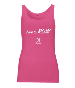LOVE TO ROW 100% COTTON VEST TOP - British Rowing Apparel - Squared & Buried