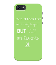 iPhone 5c PHONE CASE ROWING/NOT LISTENING - British Rowing Apparel - Squared & Buried