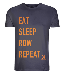 EAT, SLEEP, ROW, REPEAT ORGANIC T-SHIRT - British Rowing Apparel - Squared & Buried