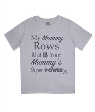 ORGANIC JUNIOR SUPER MUM ROWING T-SHIRT - British Rowing Apparel - Squared & Buried