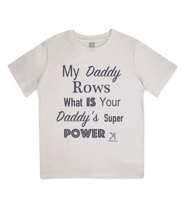 ORGANIC JUNIOR SUPER DAD ROWING T-SHIRT - British Rowing Apparel - Squared & Buried