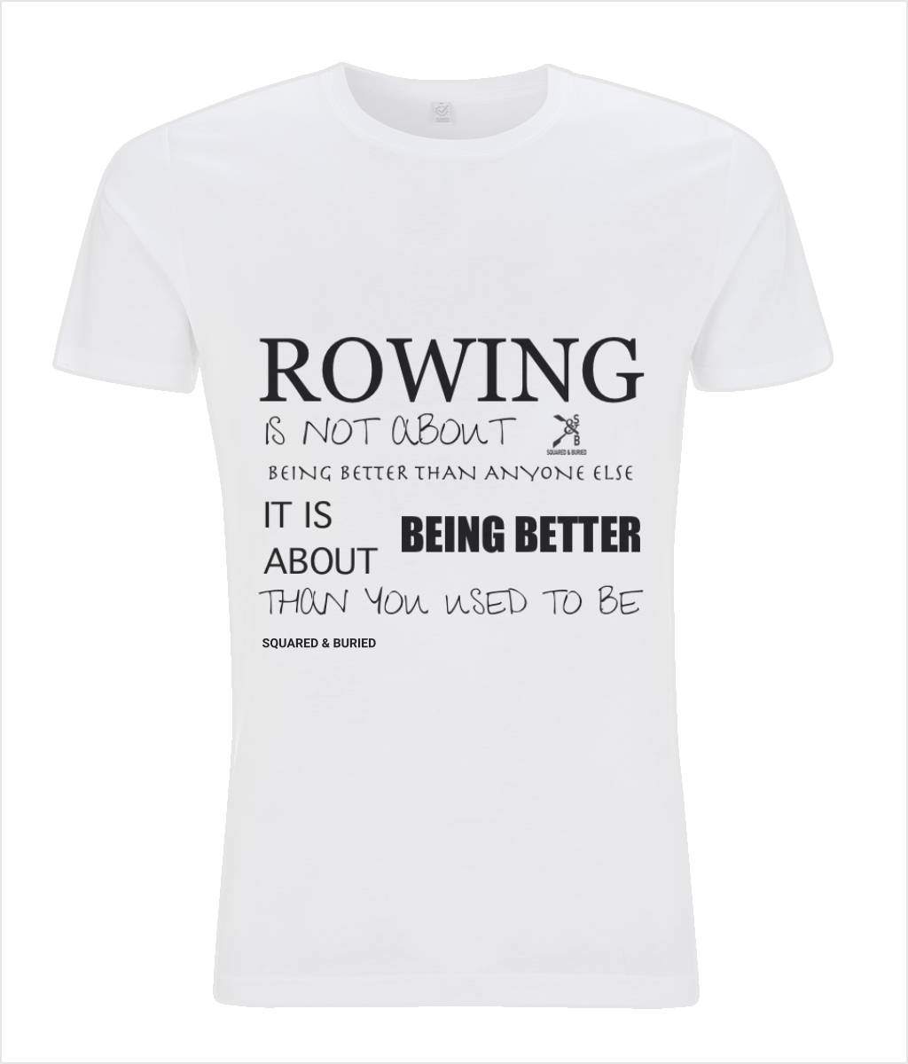 BEING BETTER ORGANIC SLIM FIT T-SHIRT - British Rowing Apparel - Squared & Buried
