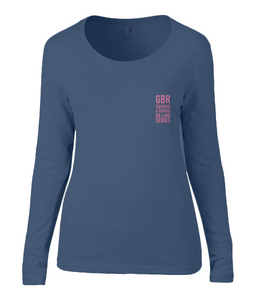 GBR ON LAND SERIES LONG SLEEVE T-SHIRT - British Rowing Apparel - Squared & Buried