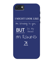 iPhone 5/5s PHONE CASE ROWING/NOT LISTENING - British Rowing Apparel - Squared & Buried