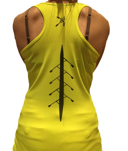 FLUORESCENT NEON YELLOW PERFORMANCE VEST - British Rowing Apparel - Squared & Buried