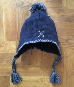 PERUVIAN POM POM & TASSEL HAT - British Rowing Apparel - Squared & Buried
