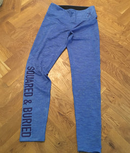 CLARENCE BLUE PERFORMANCE LEGGINGS - British Rowing Apparel - Squared & Buried