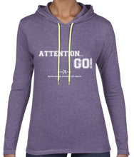 ATTENTION... GO! LONG SLEEVE HOODED T-SHIRT - British Rowing Apparel - Squared & Buried