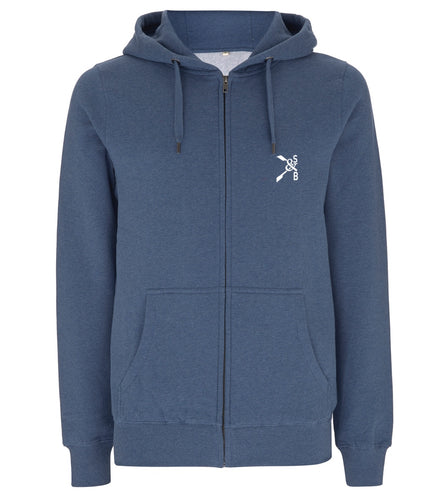 BEAUCHAMP BACK FULL ZIP ORGANIC HOODIE - British Rowing Apparel - Squared & Buried