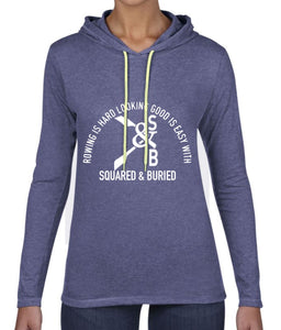 BEAUCHAMP LONG SLEEVE HOODED T-SHIRT - British Rowing Apparel - Squared & Buried