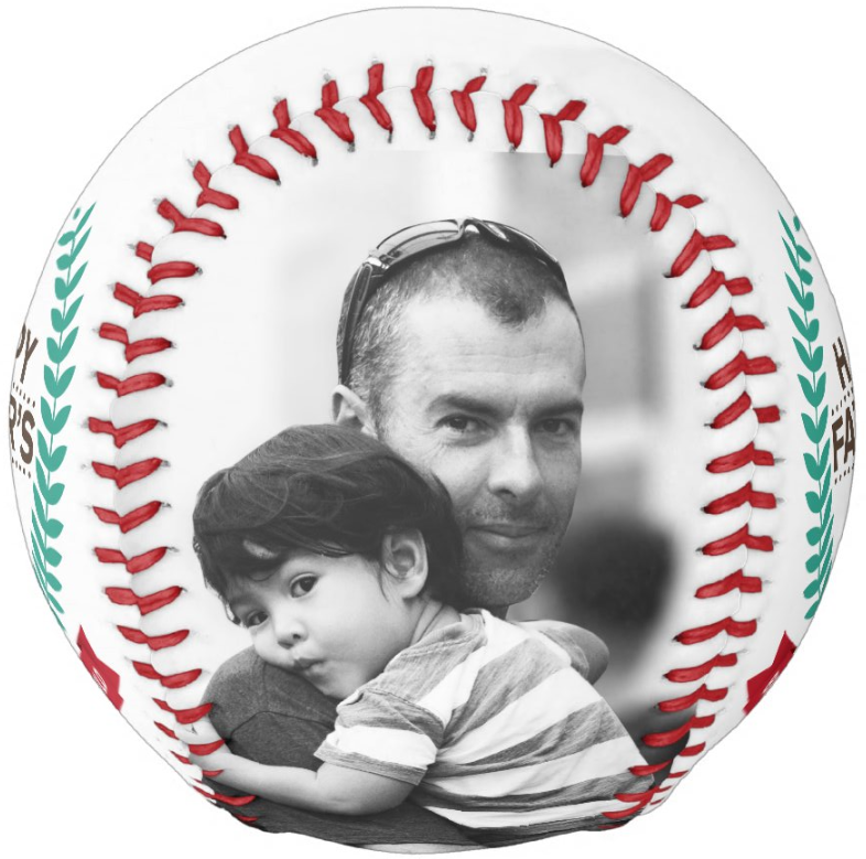 Photo Baseball Gift-BC006-Happy Father's Day-Best Dad In The World-2020