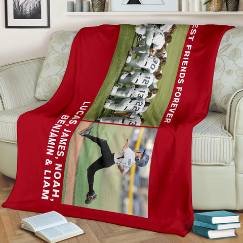 Lovely Baseball Blanket for Friends Personalized - GFI0000P2b