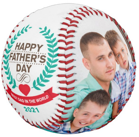 Personalized Photo Baseball Gift-B1006-Happy Father's Day-BEST UNCLE IN THE WORLD-2021