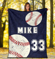 Baseball Personalized Blanket - GFI0000P1