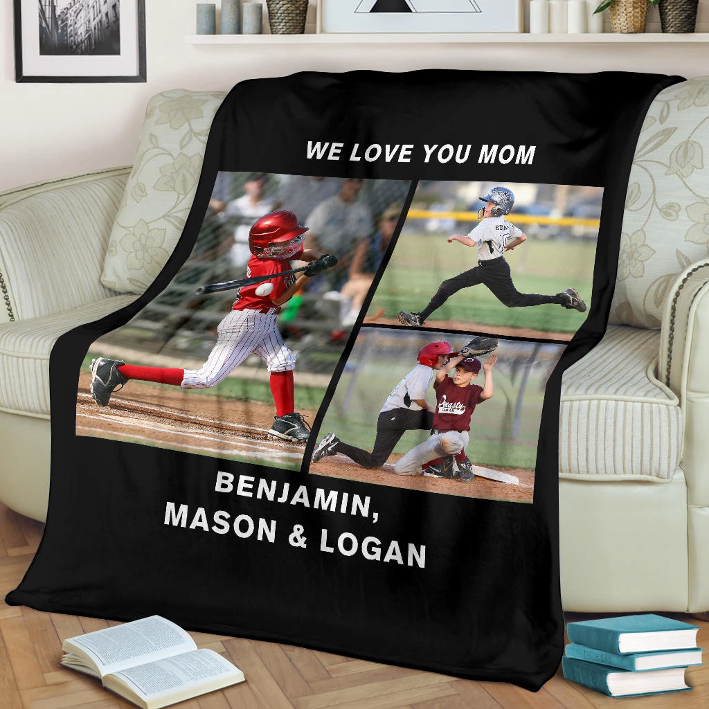 Lovely Baseball Blanket for Mom Personalized - GFI0000P2d