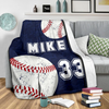 Personalized Blanket for Baseball Lovers - GFI0000P1