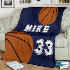 Basketball Personalized Blanket - GFI0001P1