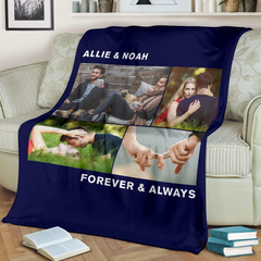 Lovely Christmas Blanket for Couple Personalized - GFI0007P4