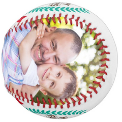 Personalized Photo Baseball Gift-B1003-Happy Father's Day-BEST DADDY IN THE WORLD-2021
